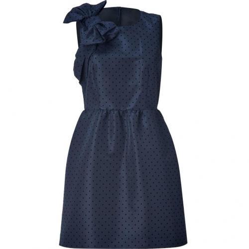 Valentino R.E.D. Night Blue Big Bow Polka Dot Dress