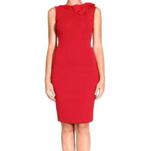 Valentino Short sleeve sleeveless bow neckline behind dress