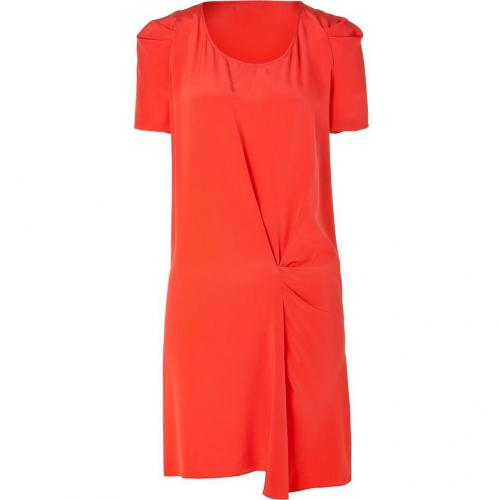 Vanessa Bruno Coral Draped Silk Dress