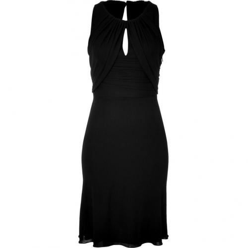 Versace Black Drape Dress