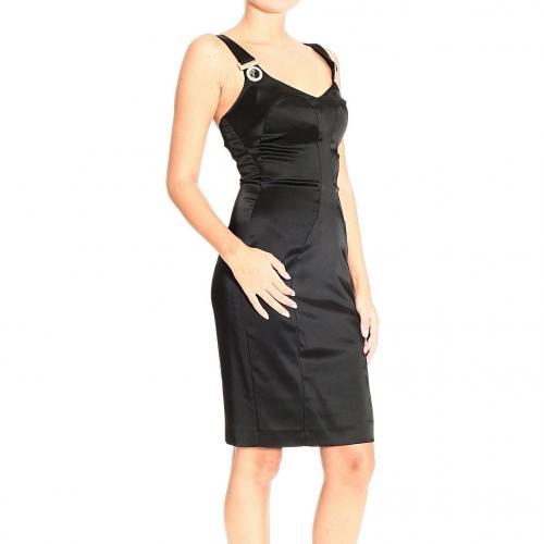 Versace Braces satin sheath dress