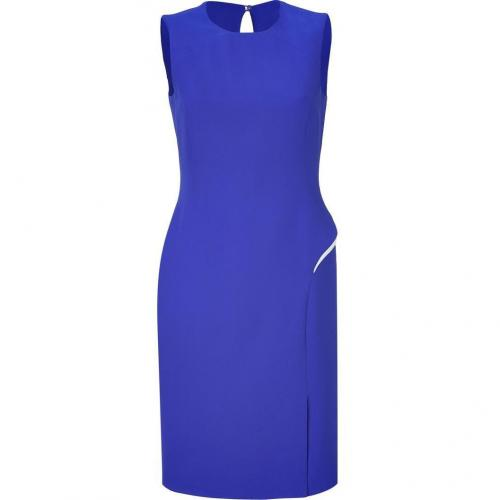 Versace Electric Blue Silk Sheath Dress