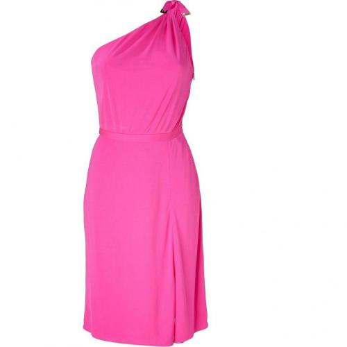 Versace Fuxia One Shoulder Dress