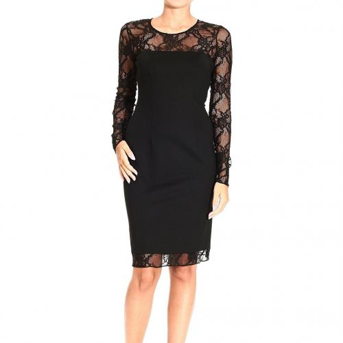 Versace Jersey with lace details dress