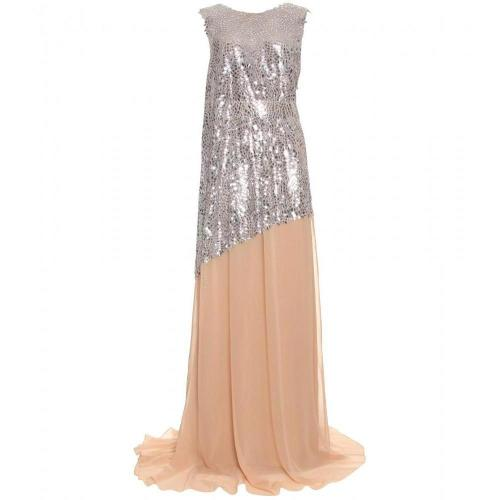 Vionnet Abendkleid Mit Metallic-Applikationen
