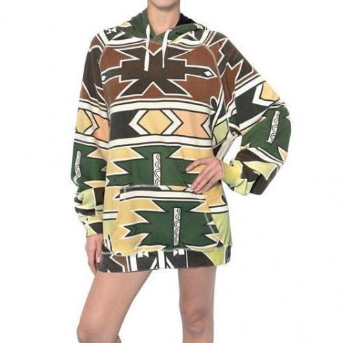 Yvonne S Maxi African Druck Kapuze Fleece Kleid
