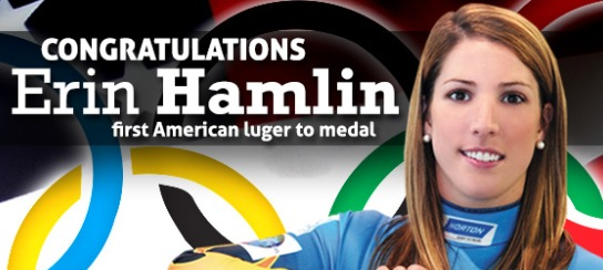 US Olympic Bronze Medalist Erin Hamlin will be throwing out the first pitch Monday, July 21st