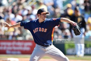 BRADENTON, FL - MARCH 06: Pitcher James Hoyt #65 of the Houston Astros pitches during a spring training game against the Pittsburgh Pirates at McKechnie Field on March 6, 2016 in Bradenton, Florida. (Photo by Ronald C. Modra/Sports Imagery/Getty Images) *** Local Caption *** James Hoyt