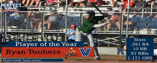 DiamondDawg, Ryan Toohers  is the 2018 PGCBL Player of the Year
