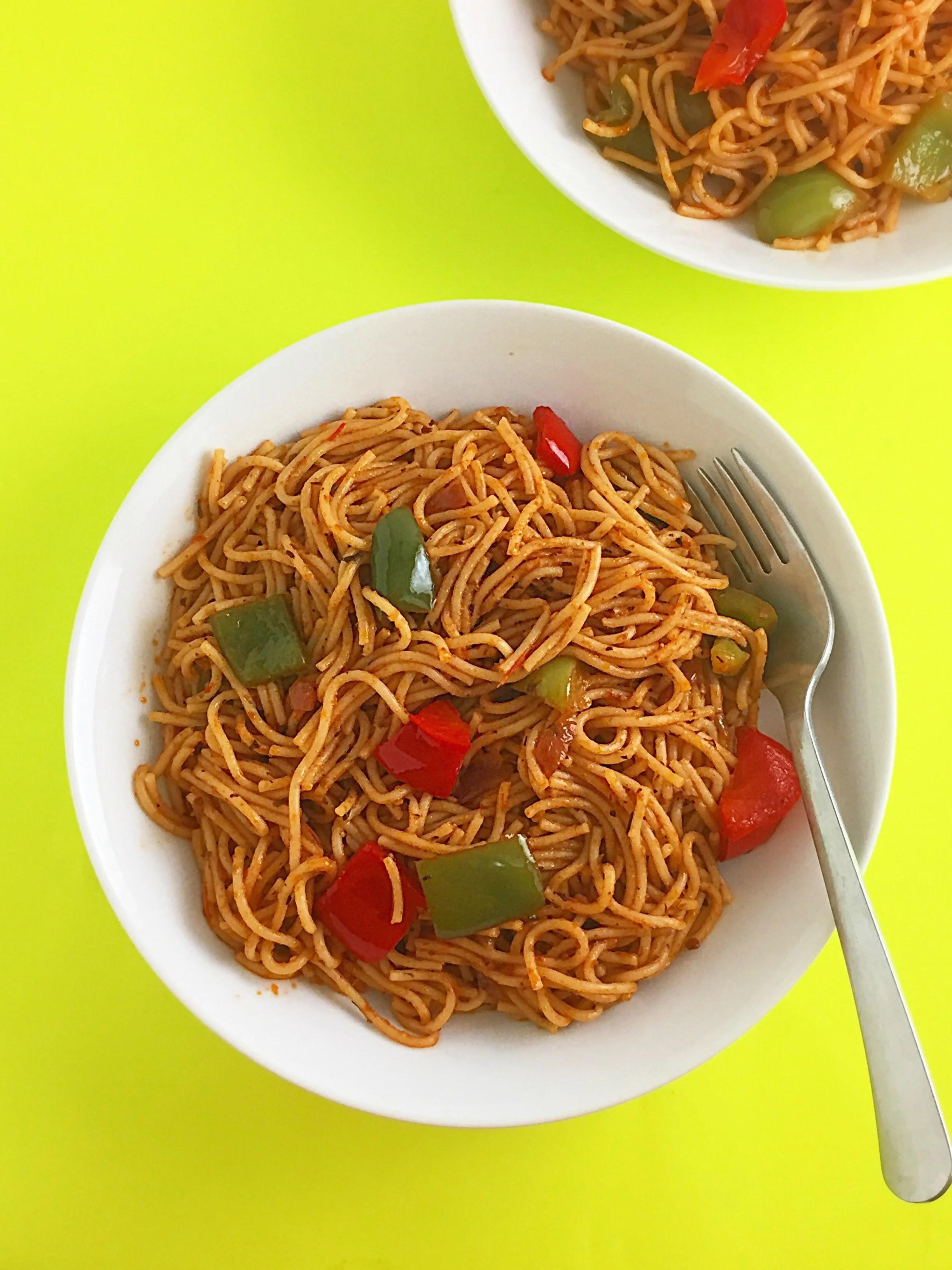 Jollof Spaghetti Recipe - My Diaspora Kitchen
