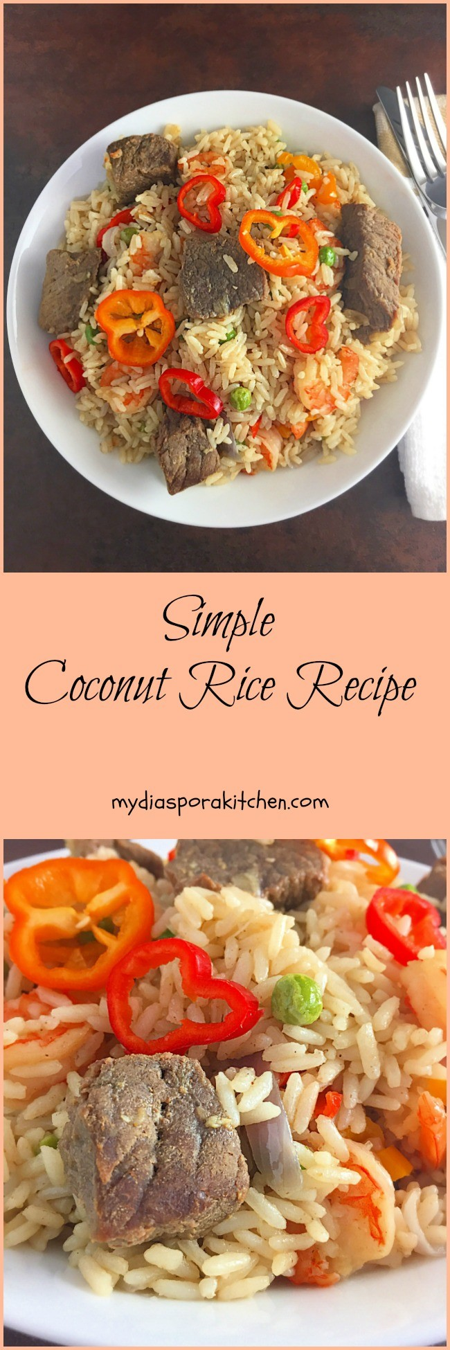 Simple Coconut Rice No Tomatoes