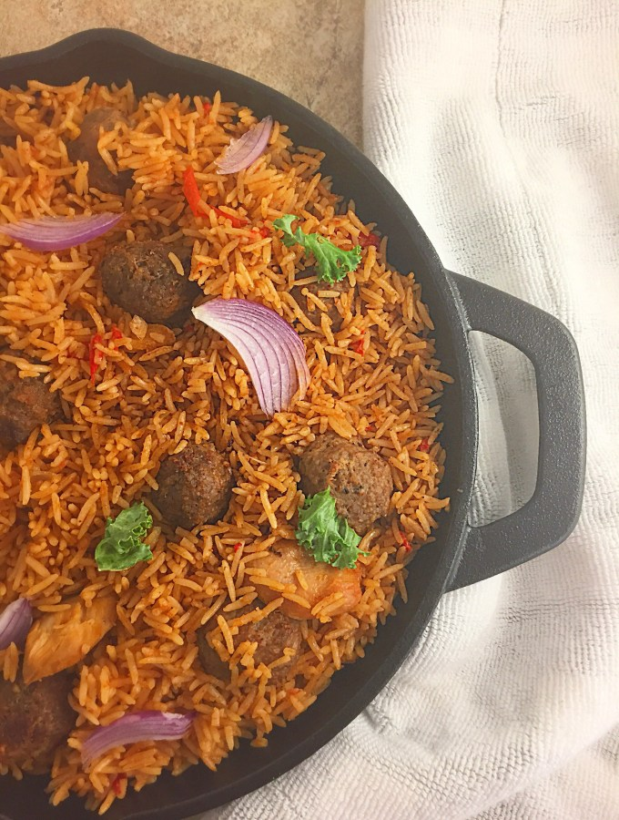 Skillet Coconut Jollof rice
