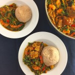 Nigeria okro vegetable Soup