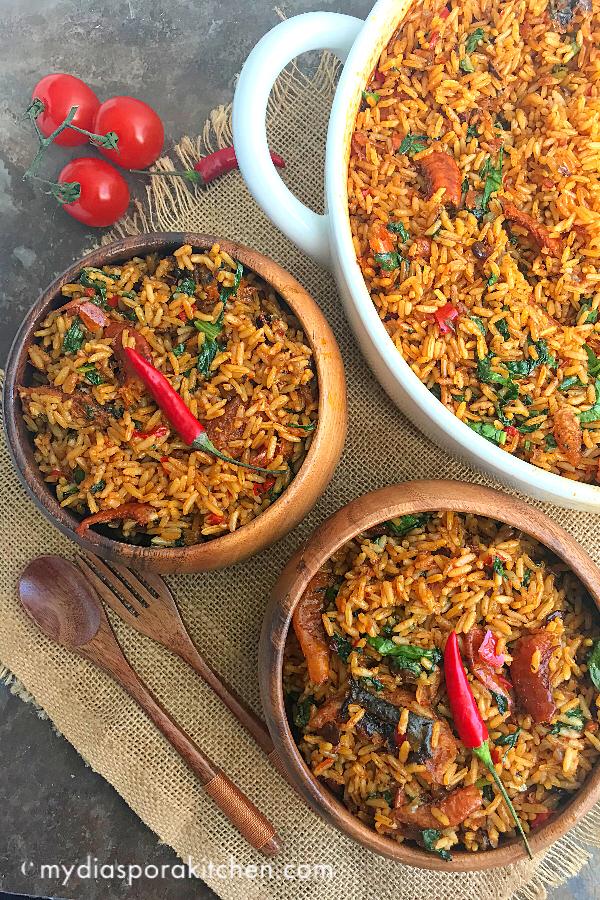 Nigerian Native Jollof Rice | Iwuk Edesi