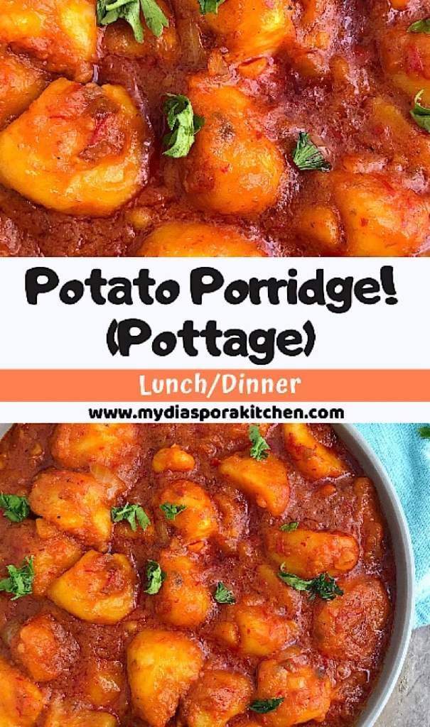 Collage of Potato pottage recipe