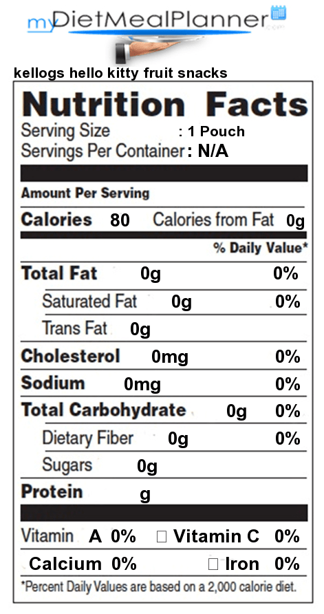 Nutrition Facts Label Sweets Candy Amp Desserts 17
