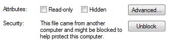 Unblock Protected Files