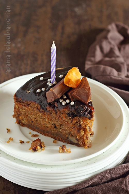 Egg Free Carrot Cake Slice