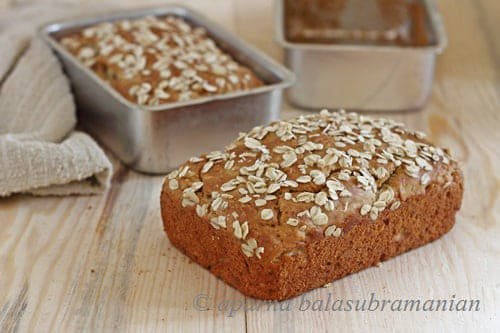Honey Oatmeal Quick Bread
