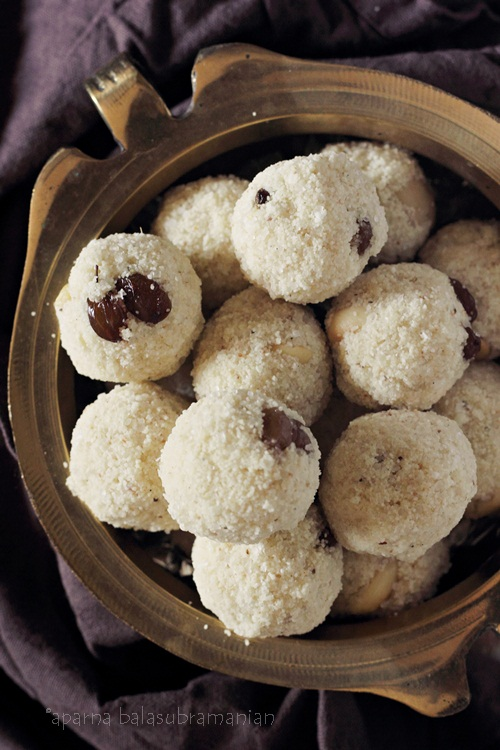 Rava Laddoo close up