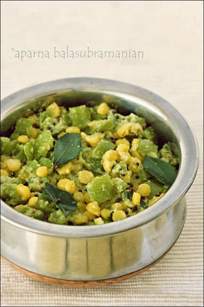 Podavalangai Kootu – Snake Gourd With Lentils and Coconut