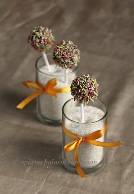 Egg Free Cardamom White Chocolate Mud Cake Pops For Diwali