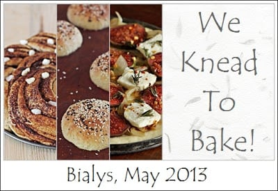 We Knead To Bake #5 : Bialys (Chewy Rolls Topped With Caramelised Onions)