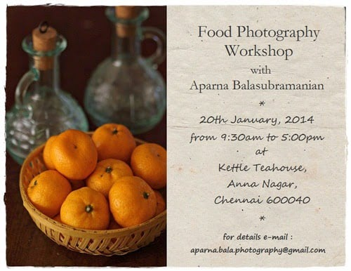 basics of food photography workshops