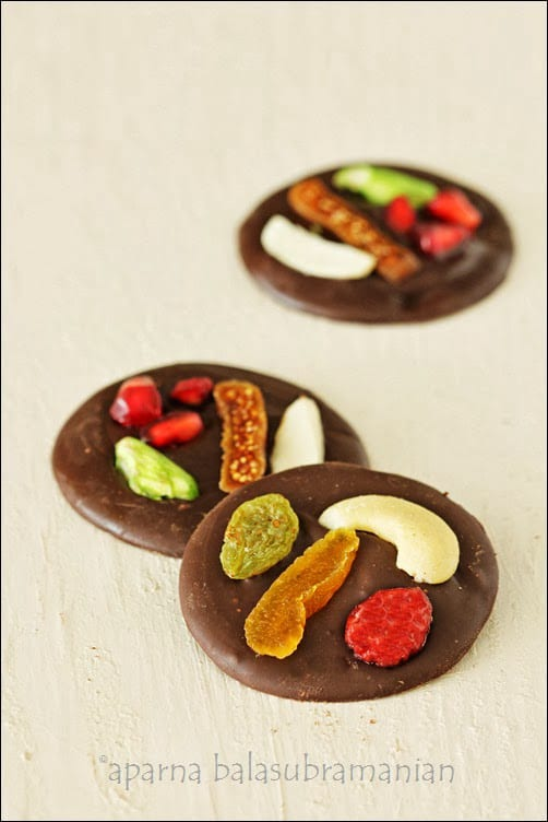 mendiants aux fruits secs traditional french fruit nut encrusted chocolate rounds recipe. Black Bedroom Furniture Sets. Home Design Ideas