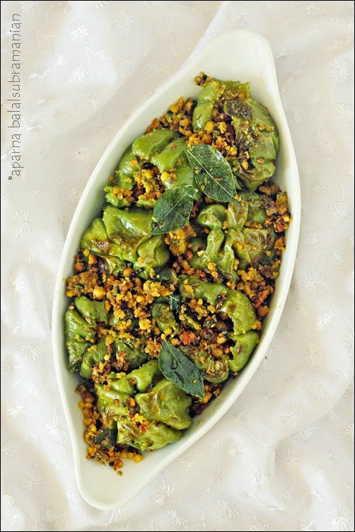 Indian Style Stuffed & Pan Fried Green Peppers