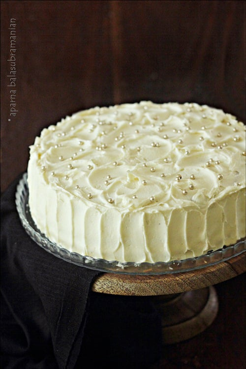 A Birthday Cake – Lime Cake with Mango Curd and Lime Buttercream