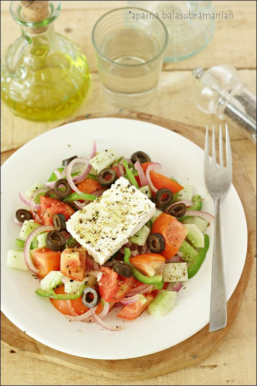 My Version of Horiatiki – A Rustic Greek Salad