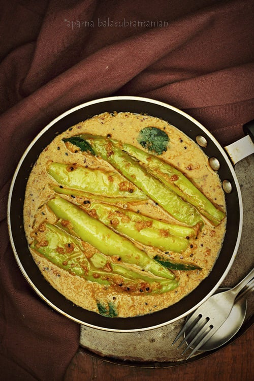 Mirch/ Mirchi Ka Salan – Green Chillies in a Mildly Spiced Peanut Gravy (GF, V)