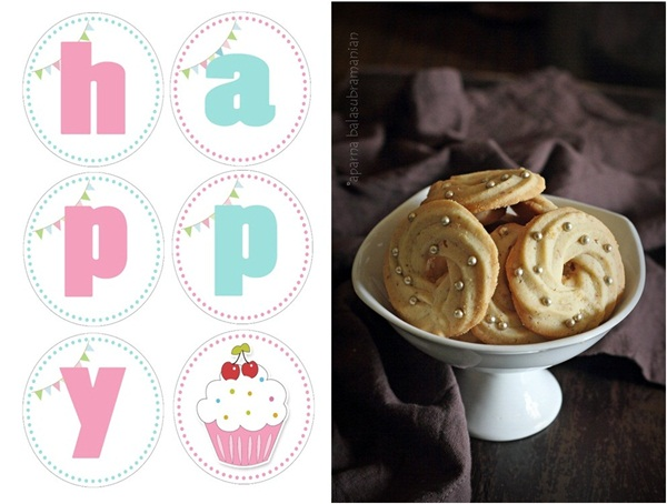 Dutch Butter Cookies birthday banner