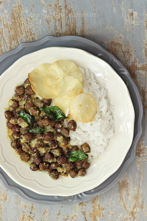 Curried Chickpeas with Rice