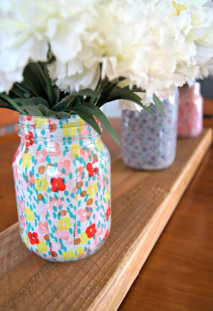 12 DIY Ing Homebased Mason Jar Flower Vases