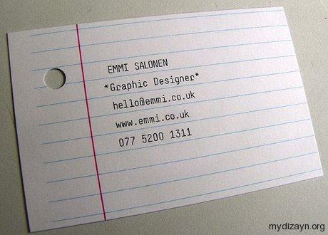 Sayfa Baskılı kartvizit