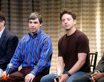 Larry Page and Sergey Brin (Google)