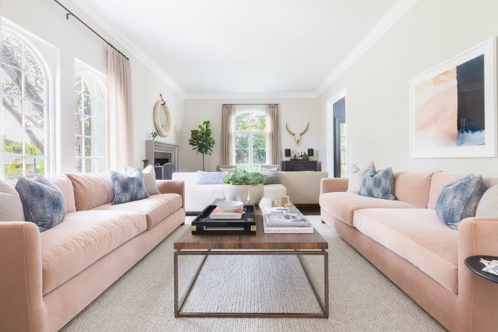 the living room and sofa layout that