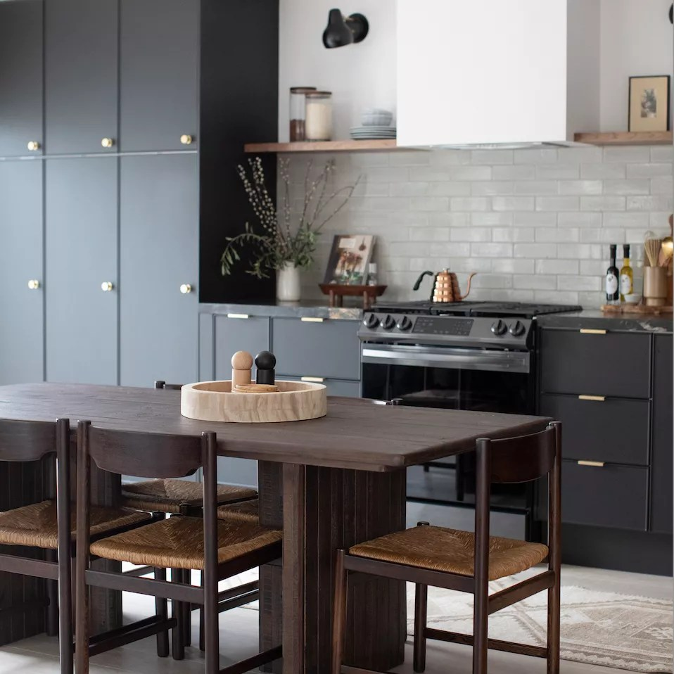 Rush seating in a kitchen
