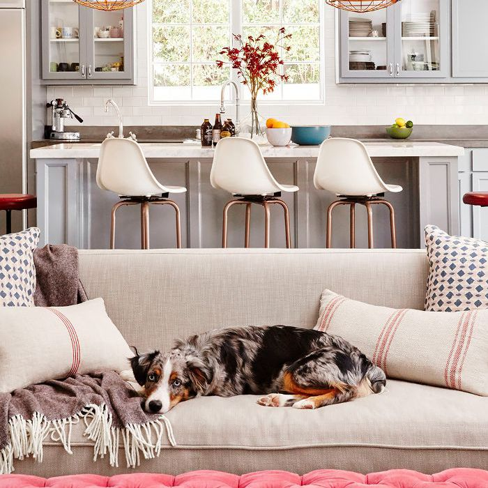 decorating with throw