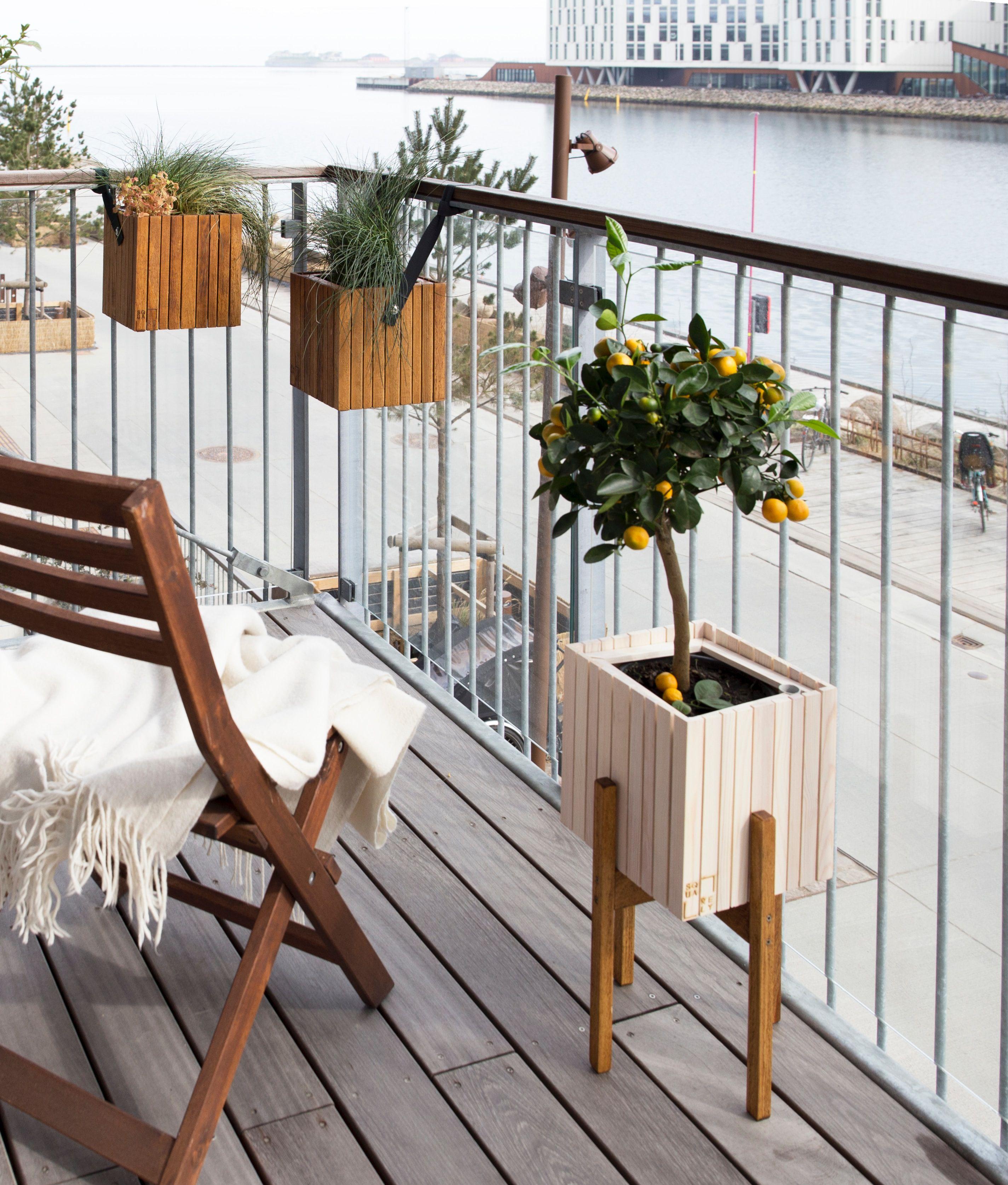 small balcony space