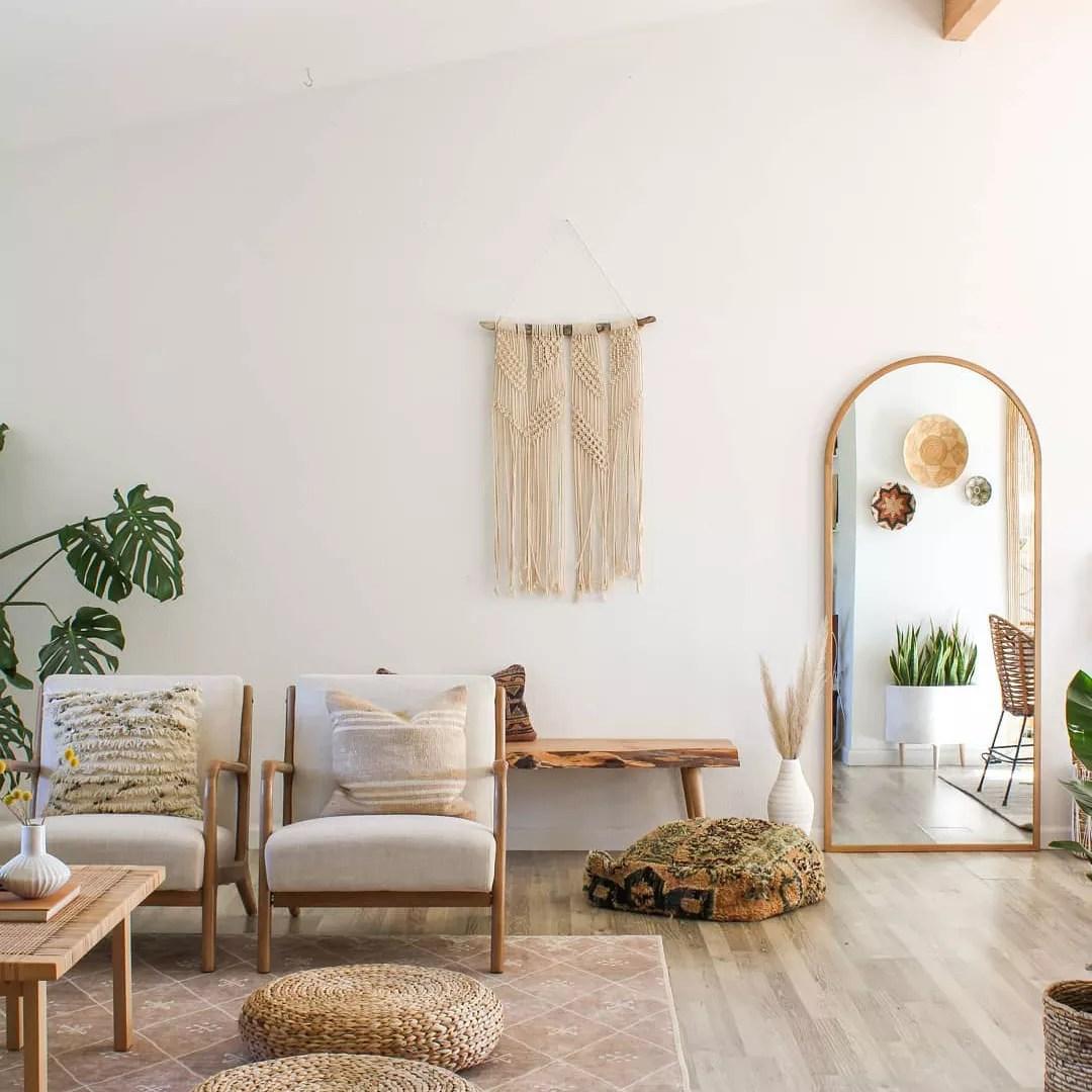 Boho inspired living room