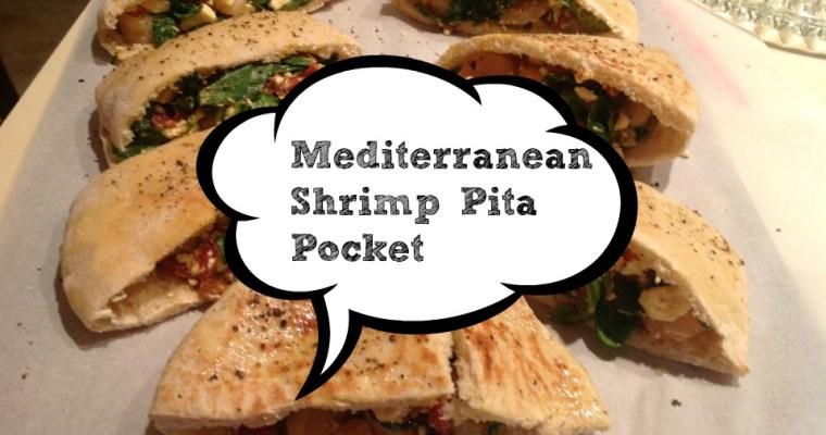 Mediterranean Shrimp Pita Pockets