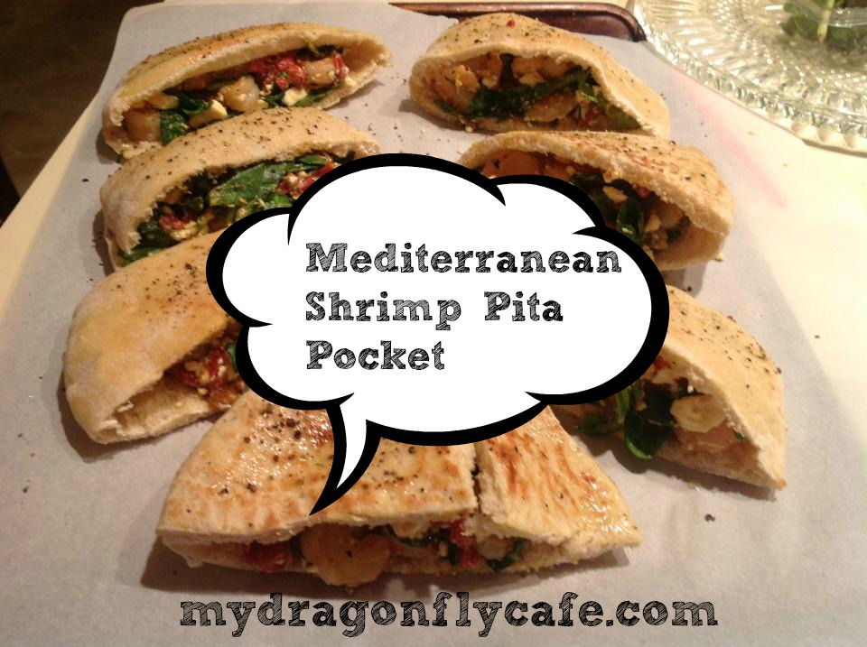 Mediterranean Shrimp Pita Pockets