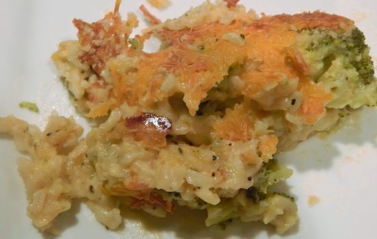 Broccoli Rice Cheddar Casserole