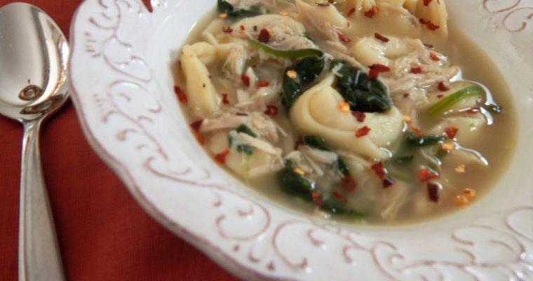 Florentine Chicken Tortellini Soup