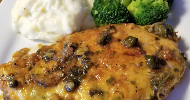 Chicken Francaise with Capers