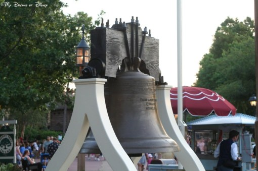 The Liberty Bell replica, located in Liberty Square at the Magic Kingdom