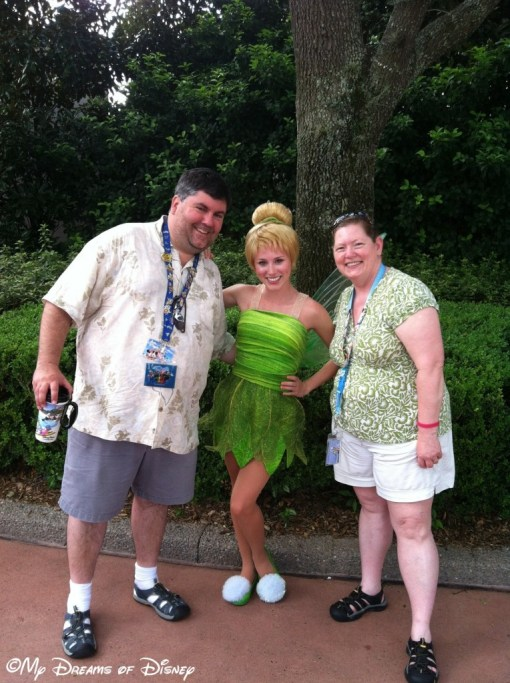 Happiness also belongs to me and Cindy -- on this day, we were on our own when we saw Tinkerbell!